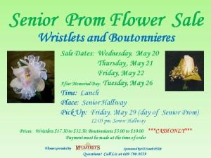 Senior Prom Flower Sale Flyer